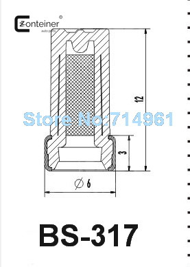 500pcs/set auto spare parts fuel injector filter case for