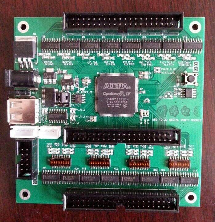 High performance USB interruptor de 32 canais 32 canais completo de configuração de parâmetros de USB multi módulo de porta serial