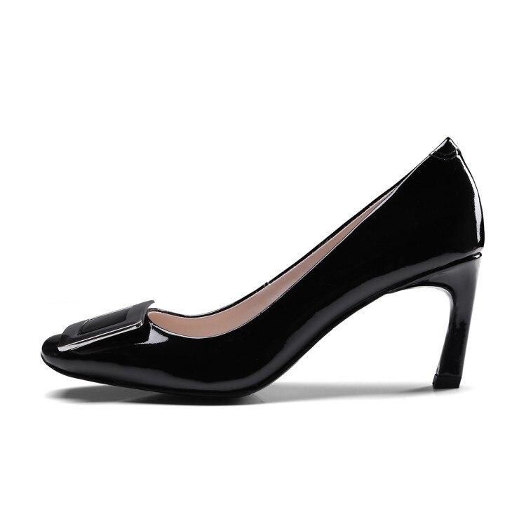 gris Altos Pie Las Negro Superficial Del Dedo Moda Hebilla 2018 Tacón Slip Mujer Cuadrado Vestir Cuero on {zorssar} Tacones marrón Señoras De Zapatos aRBUwx6Pq