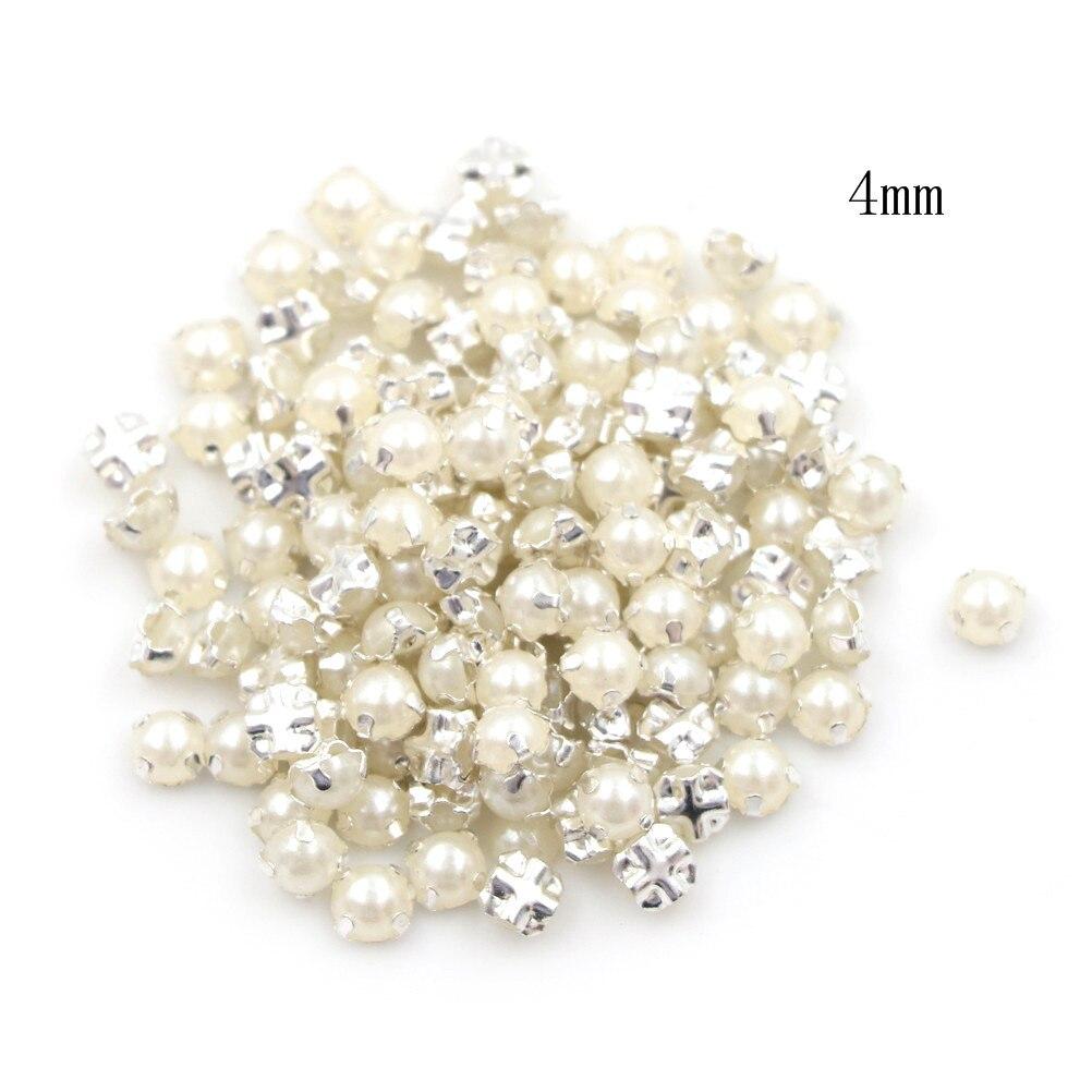 100 pièces artisanat 3/4MM Mini perle boucle bricolage robe de poupée Patchwork accessoires de couture (lot de 100)