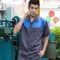 Set of short-sleeve coat+Pants work wear short-sleeve set male summer work wear summer frock h-820