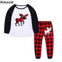 2018 New Infant Baby Clothing Sets Xmas Newborn Baby Boys Girls Kids Casual Deer T Shirt