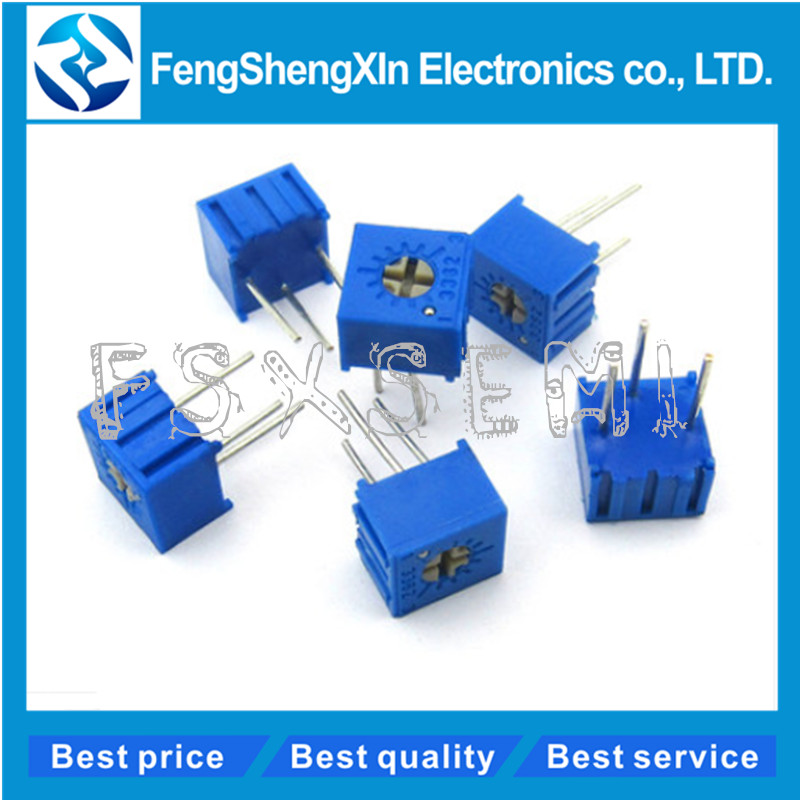 3 x 200K OHM TRIMMER POTENTIOMETER CERMET 1 TURN 3362 3362P FREE SHIPPING