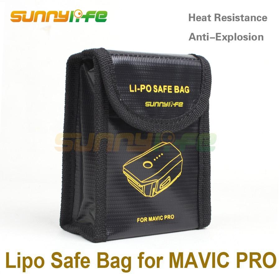 Sunnylife Lipo 배터리 안전 가방 DJI MAVIC PRO 배터리 백용 방폭형 보호 가방