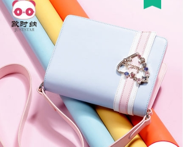 Princess sweet lolita Fairy bag women's bag sloping across the tide Korean version of the girl's single shoulder bag171841 qiaobao 2018 new korean version of the first layer of women s leather packet messenger bag female shoulder diagonal cross bag