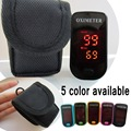 +Pouch CE ISO Approved LED Fingertip Pulse Oximeter Blood Oxygen SpO2 saturation oximetro monitor oxymetre pulso metros