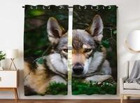 HommomH Curtains (2 Panel) Grommet Top Darkening Blackout Room Forest Fox Animal