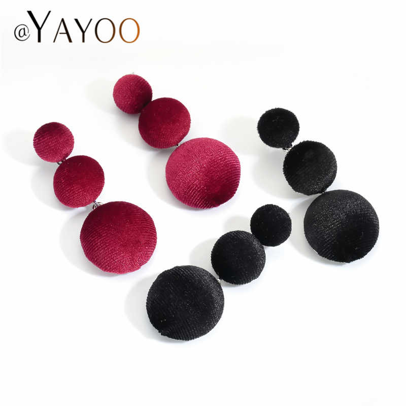 Drop Earings Fashion Jewelry Boho Round Statement Earrings For Women 2018 Za Earrings Hanging Wedding Accessories