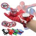 5 estilos de PVC 24 cm Figura de Acción de Spiderman Batman Guante Lanzador de Juguete Niños Adecuados Cosplay Spider Man juguetes