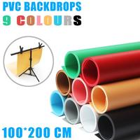 100*200 см цветные матовые фон из ПВХ плиты фото фон ткань Водонепроницаемый против морщин пластины