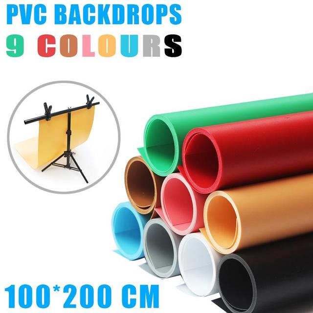 100*200cm Solid Color Frosted PVC Background Plate Photography Backdrop Background Cloth Waterproof Anti-wrinkle Plate