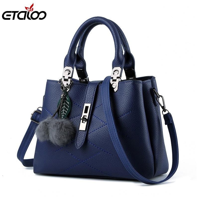 Women Bag ტყავის ჩანთები 2018 ქალის მოდის ყოველდღიური ჩანთა ტკბილი ჩანთები Messenger handbag