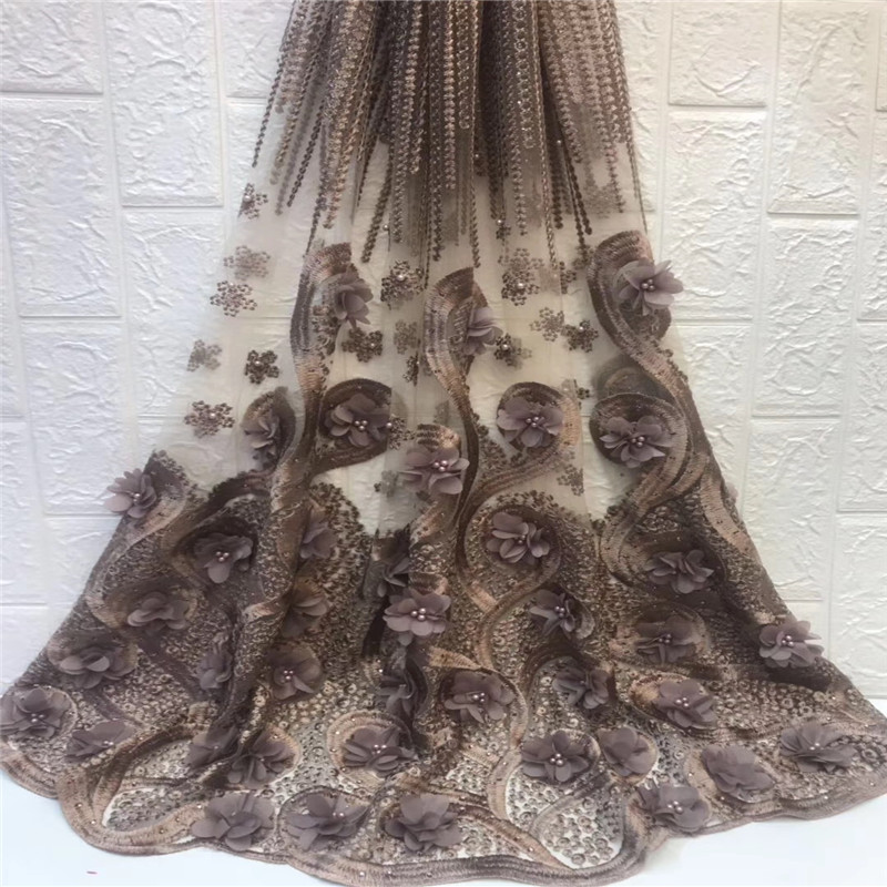 2019 New Style Nigerian Lace Fabrics For Wedding 2019 African French Lace Fabric High Quality 3D