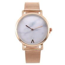 Reloj mujer 2019 New Brand Fashion Watches Women Gold Metal Mesh Watch band Dress Quartz Zegarki Damskie Holiday Hot Sale