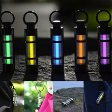 Free Shipping 2016 New Automatic Light 25 Years Titanium Tritium Keychain Key Ring Fluorescent Tube Lifesaving