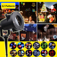 Christmas Holiday Lights Outdoor Fairy LED Stage Projector Laser Snowflake lamp Home Garden Star Light Waterproof Decoration