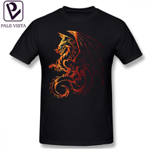 Dragon T Shirt T-Shirt Cute Male Tee 6xl Graphic Cotton Basic Short Sleeves Tshirt