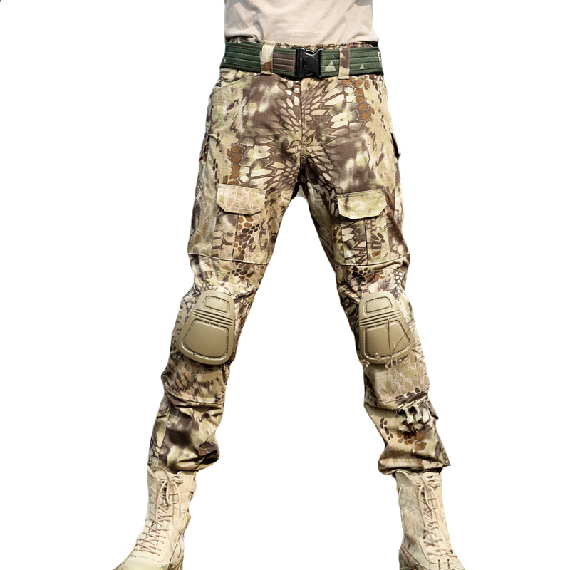 Army Military Tactical Cargo Pants Kneepads Mens Commandos Spetsnaz Trousers Delta Force Camouflage Clothes Combat Trousers