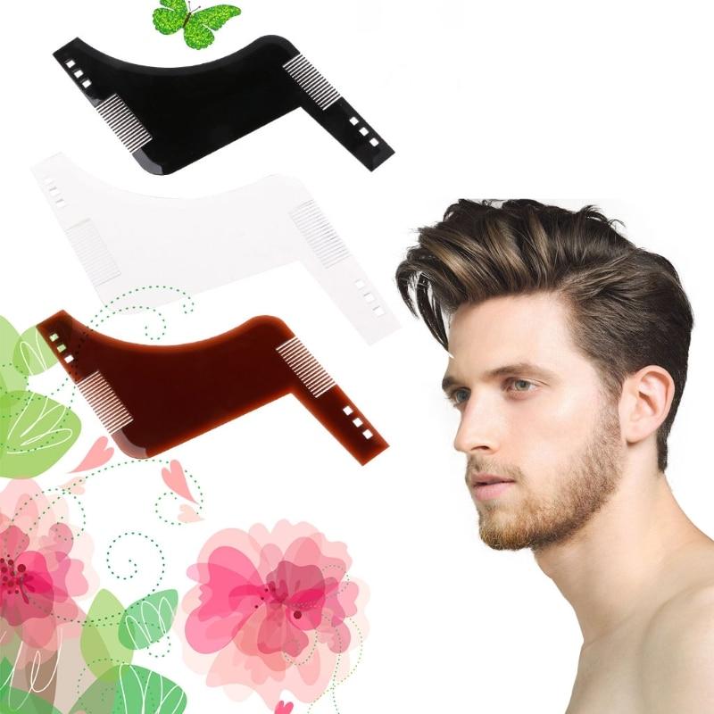 Beard Hair Shaving Comb Brush Template Tool Shave Form Lines Men Grooming Shaper