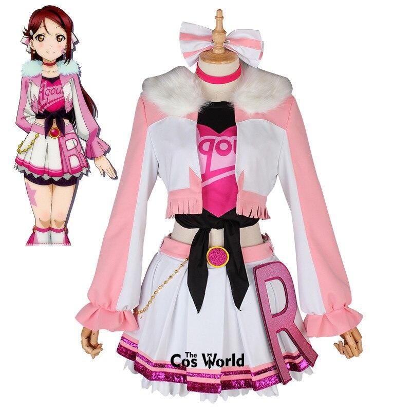 Love Live Sunshine Miracle Wave Sakurauchi Riko Tops Coat Pants Dress Uniform Outfit Anime Cosplay Costumes