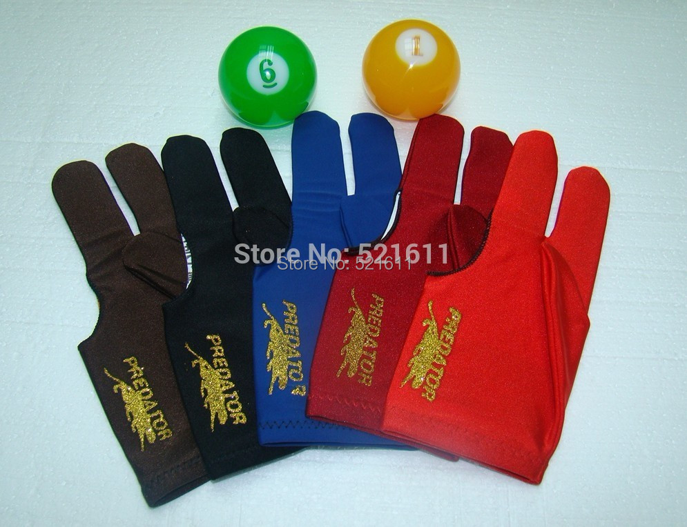 Freepost 100pcs lot high Elasticity 3 finger billiard gloves Pool Table Snooker billiard table Gloves