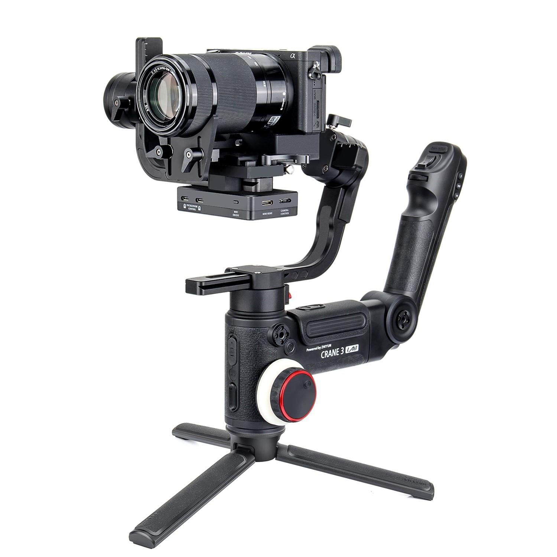 DHL ZHIYUN Grue 3 LABORATOIRE 3-Axe Sans Fil FHD Image Transmission Caméra Stabilisateur ViaTouch Contrôle De Poche Cardan pour DSLR