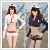 2 Color Suit 1/6 Scale Female Navy Equipment Sexy Female Navy Clothes Suit Clothes Clothing Set For 12 Figure Female Body Doll