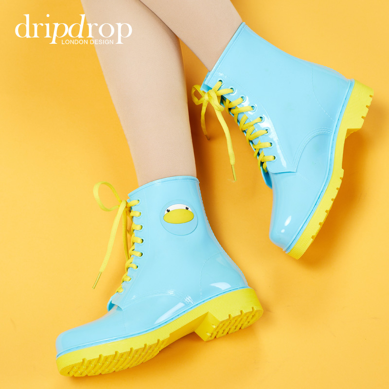 ФОТО Dripdrop born of things all kinds of animals in the water tube ms rain boots rubber shoes fashion shoes overshoes galoshes