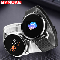 SYNOKE Smart Waterproof Womens Watch Sport Digital Smart Watch Women Silicone Womens Wristwatches Android IOS Womens Watches