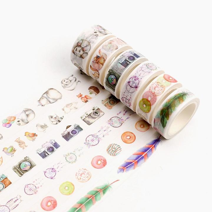Vintage Love Life Washi Tape DIY Decorative Scrapbooking Planner Masking Tape Adhesive Tape Kawaii Stationery,15mmx7m,20/30mmx8m ezone 1pc kawaii watercolor sakura petal washi tape diy decorative scrapbooking sticker planner masking adhesive tape stationery