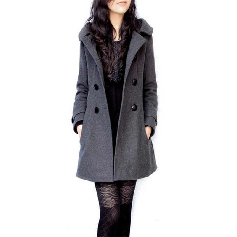 Popular Hooded Wool Coat-Buy Cheap Hooded Wool Coat lots from ...