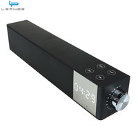 LEPHEE 16W Soundbar Hifi Bluetooth Speaker Time LCD Display Wireless Speakers Dual Bass Stereo Receiver For