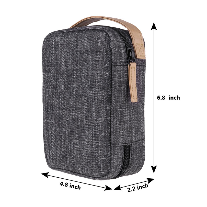 Double Layer Universal Traveling Gear Accessories Carrying Cover Pouch for Phone Cables Cord USB Flash Drive Power Bank and More