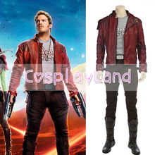 Guardians of the Galaxy Cosplay Costume Halloween Costumes for Adult Star Lord  Jacket Leather Outfit