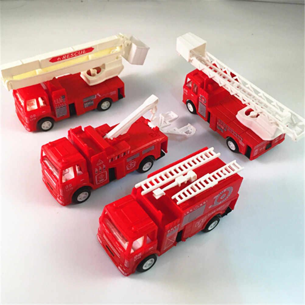สีแดง Mini Diecasts รุ่น Fire Engine เด็กของเล่นรถรถยนต์เครื่องของเล่นเด็ก 14 * * * * * * * * 4.2 6.8 เซนติเมตร