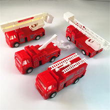 Red Color Mini Diecasts Model Car Fire Engine Boy Toy Car Cars Machines Kids Toys 14*4.2*6.8cm(China)