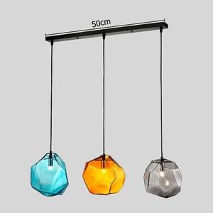 Image 3 - מודרני מינימליסטי תליון אורות Creative צבעוני זכוכית תליון מנורות מסעדת LED מנורות מקורה בית תאורה