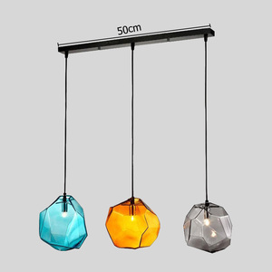 Image 3 - Modern Minimalist Pendant Lights Creative Colorful Glass Pendant Lamps Restaurant LED Lamps Indoor Home Lighting