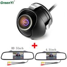 GreenYi 5 «Car Зеркало заднего вида монитор заднего вида Камера TFT-CCD видео автоматической парковки Комплект 4 светодиодный Ночное Видение заднего вида автомобиля- стиль