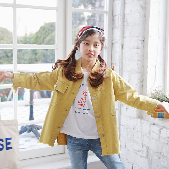 6a87411c2 Aliexpress.com   Buy Brand Girls Coat 2019 New Spring Kids Jackets ...