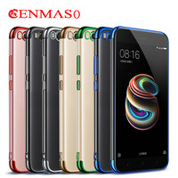 Back Cover For Xiaomi Mi 5X 5 X Plating Case 5 5 Ultra Thin Clear Transparent