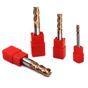 Image 3 - 5 peças hrc60 4 flauta 1mm 1.5mm 2mm 2.5mm 3mm 4mm 5mm 6 ponta cortadora para moagem, fresa de liga de carboneto, tungstênio, aço, fresagem