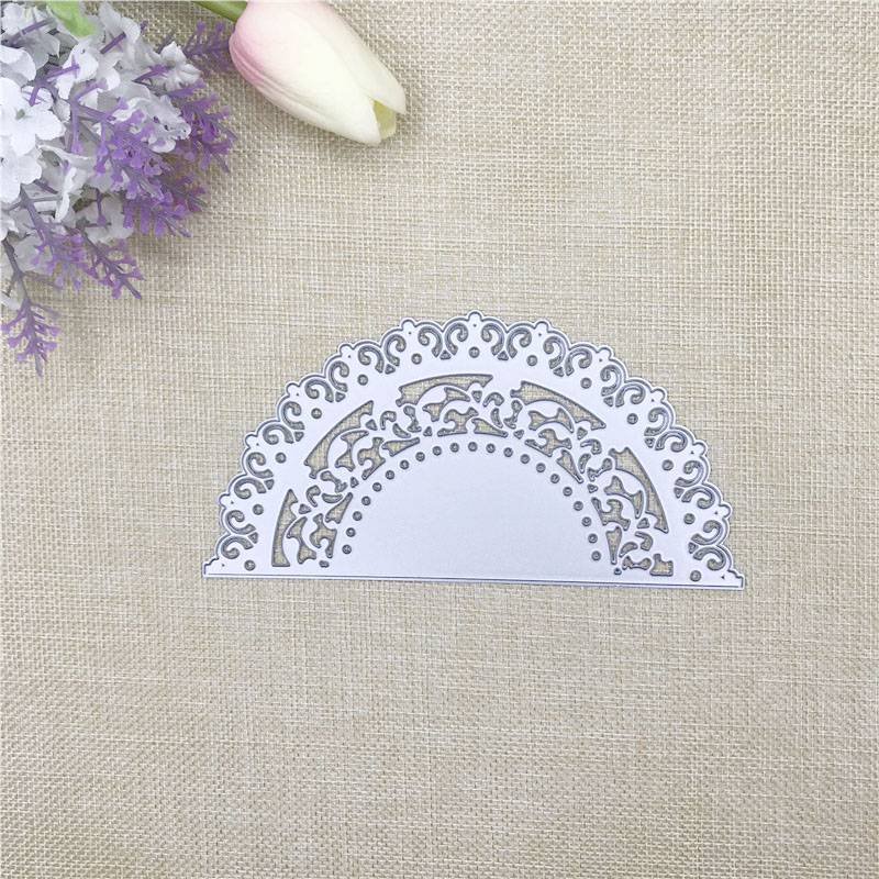 Julyarts Semicircle Flower Dies Scrapbooking Nouveau Arrivage DIY Scrapbooking Stamping Die Cuts DIY Paper Cards Making Craft in Cutting Dies from Home Garden