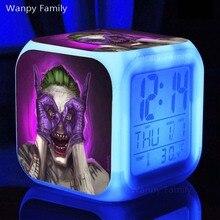 [Wanpy Family] Suicide Squad Digital Alarm Clock For Childrens Festival Gifts Bedside Desktop Color Changing