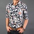 camisa floral masculina mens floral shirts plus size  long sleeve  Mens Shirts Men's dress Shirts Men's Casual Fit Free Shipping