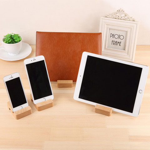100% Natural Wooden Desktop Holder Table Stand Mobile Phone Bracket - Mobile Phone Accessories and Parts