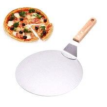 Полезная из нержавеющей стали нож для пиццы лопата с деревянной ручкой лопатка для торта инструменты для выпечки сыра лопатки для пиццы FBE3