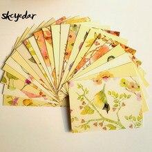 22 шт милые/Kawaii акварельные открытки с живописью цветы и птицы открытки