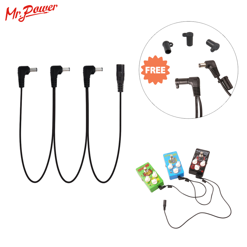 Effect Pedal Cable 3 Ways Cord Electrode Daisy Chain