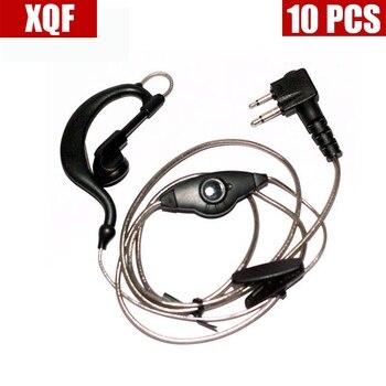 10PCS Aluminum Foil Earpiece Earphone Headset Compatible For Motorola 2-Pin XU1100, XU2100, XU2600, XU4100 Walkie Talkie Radio